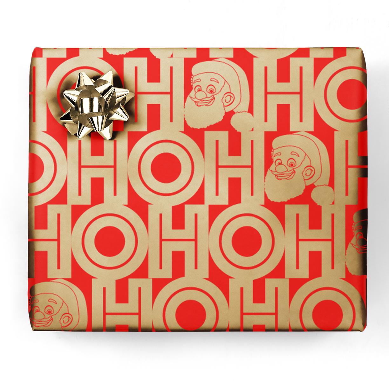 Clarence Claus HOHOHO Gift Wrap