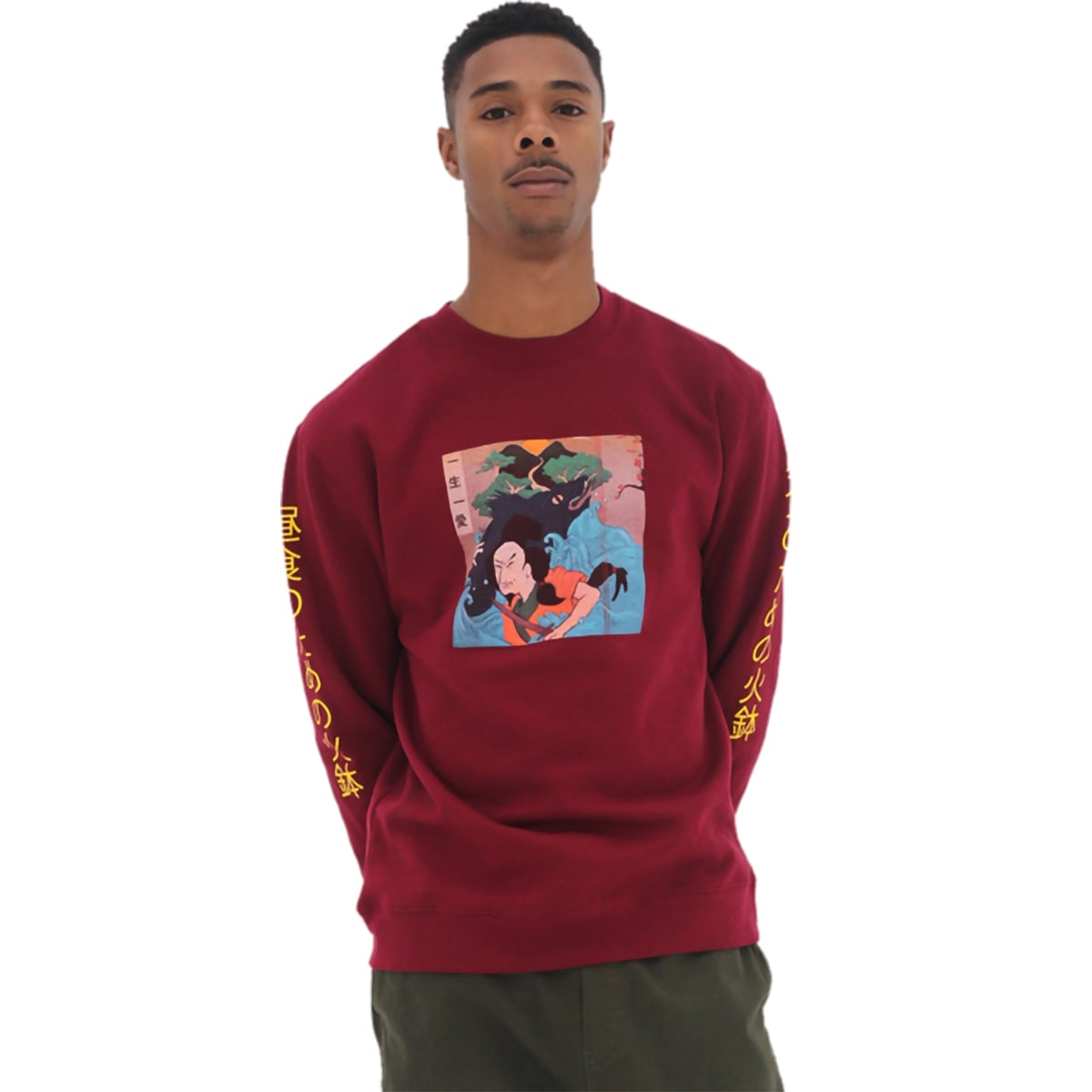 Hibachi for Lunch Sweatshirt [Cardinal]