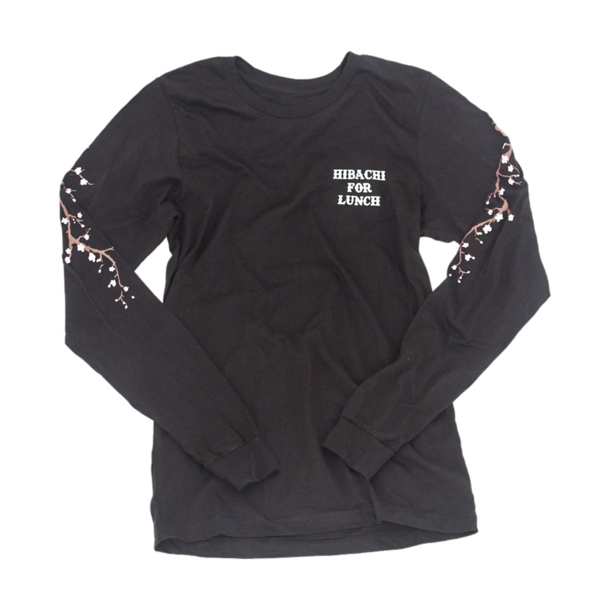 Hibachi for Lunch Long Sleeve Shirt [Black]