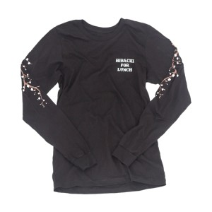 Hibachi for Lunch Long Sleeve Shirt [Black]