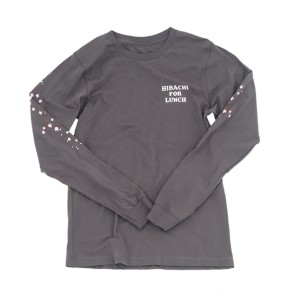 Hibachi for Lunch Long Sleeve Shirt [Asphalt]