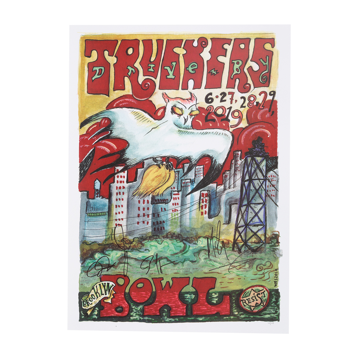 Brooklyn Bowl June 27-29 2019 Signed Poster