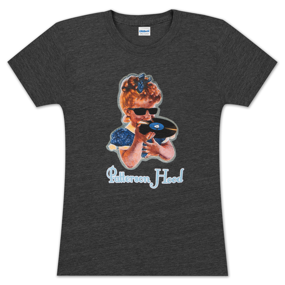 Patterson Hood Ladies' Record Eater Charcoal Tee