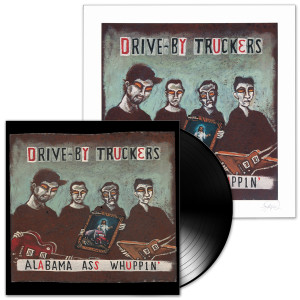 Drive-By Truckers Alabama Ass Whuppin' LP & Print Combo