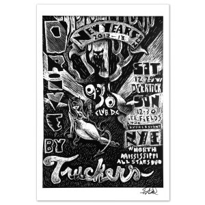 Drive-By Truckers 2012 DC NYE Poster