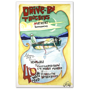 Drive-By Truckers February 13-15, 2014 Athens Poster - Autographed