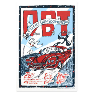 Drive-By Truckers February 2015 Athens Silkscreen Autographed Poster