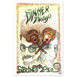 The Dimmer Twins Spring 2019 Tour Signed Poster