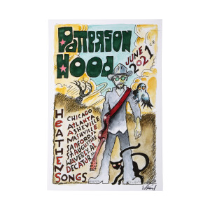 Patterson Hood Summer 2021 Solo Tour Poster