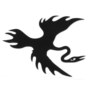 Contour Cut Flying Cooley Bird Sticker
