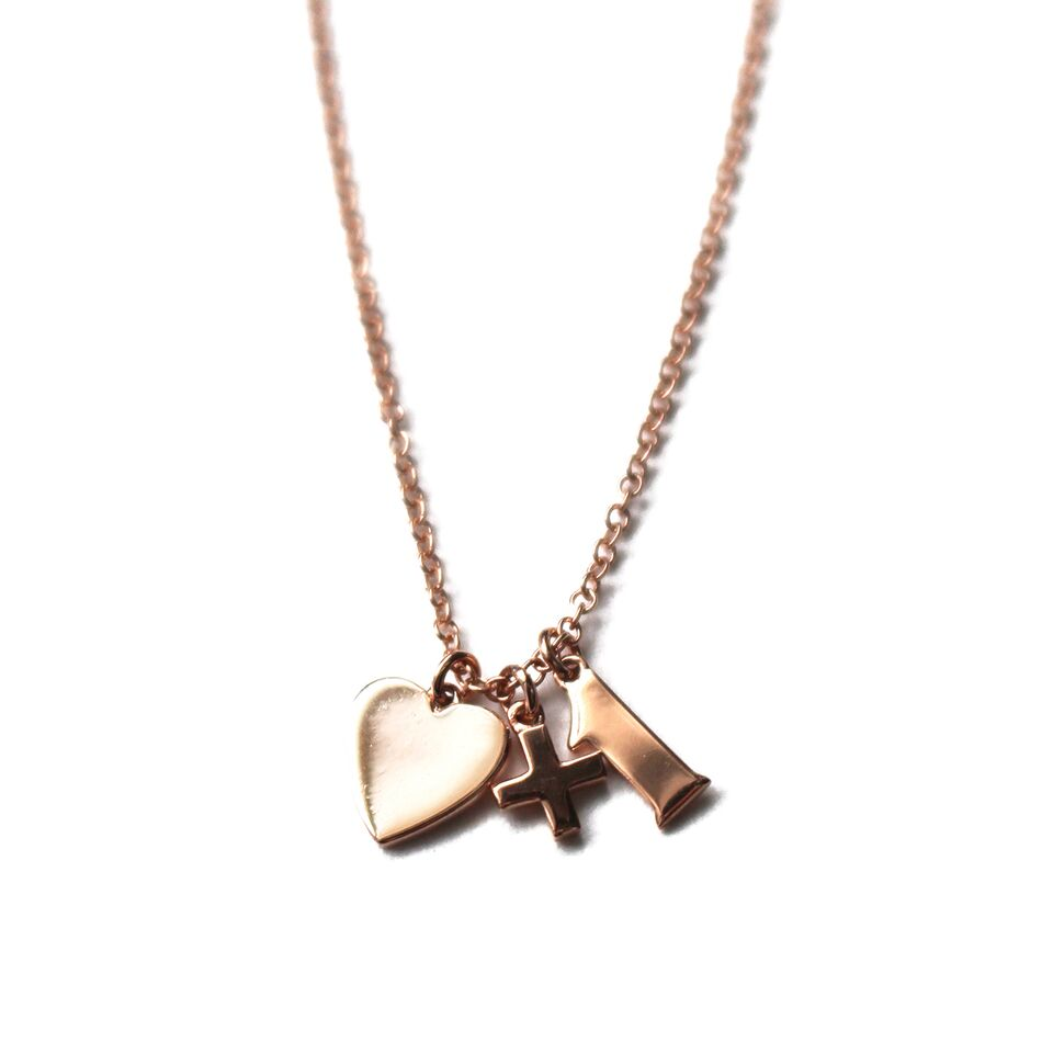 Gold Love+1 Necklace