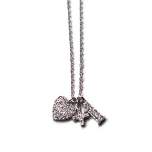 Gold with Diamonds Love+1 Necklace