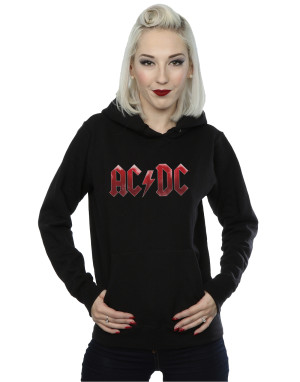 AC/DC Women's Red Ice Logo Hoodie