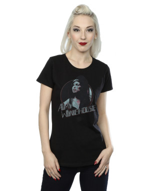 Amy Winehouse Women's Distressed Circle T-Shirt
