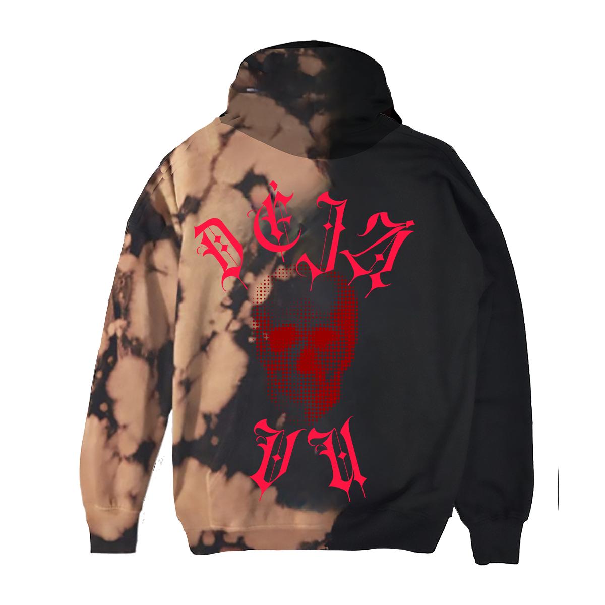 Déjà Vu Custom Dye Black Hoodie