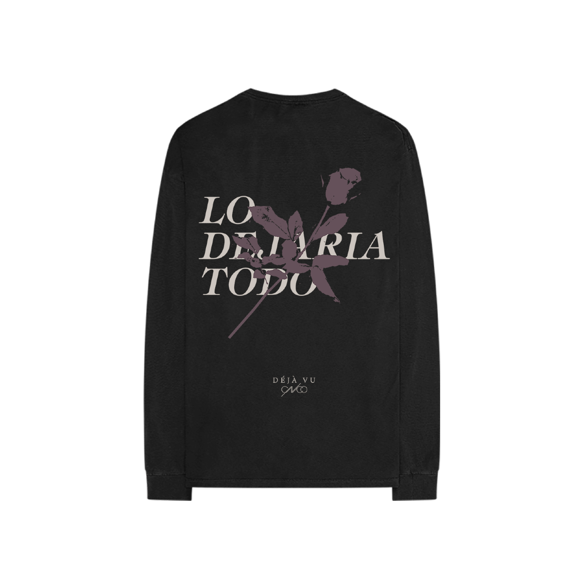 Déjà vu Black Long Sleeve Tee