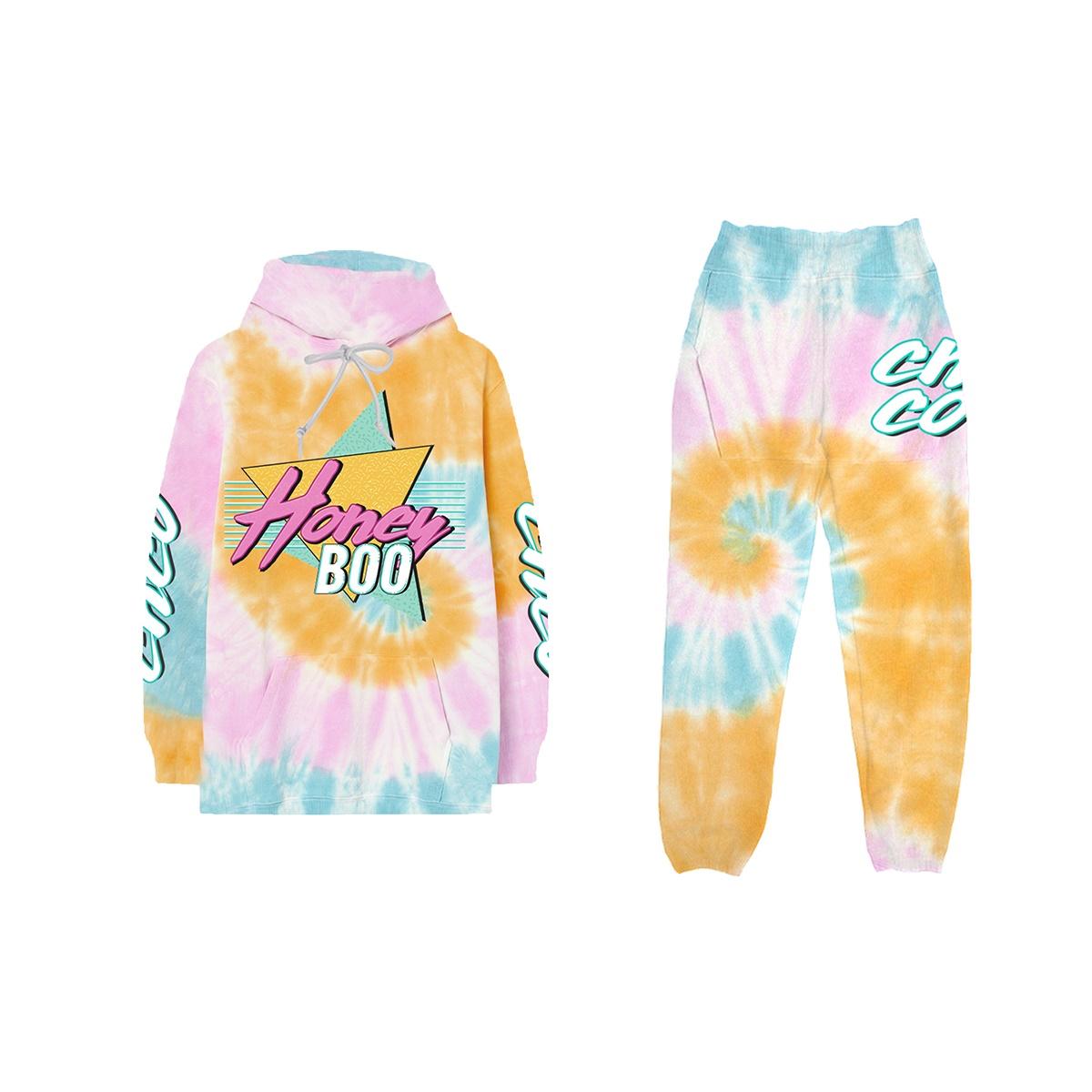 Honey Boo TieDye Hoodie + Sweatpants Bundle