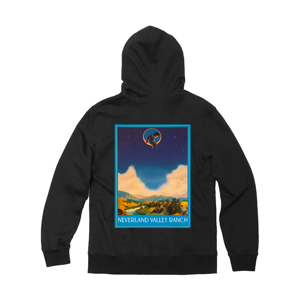 Neverland Valley Ranch™ Black Pullover Hoodie