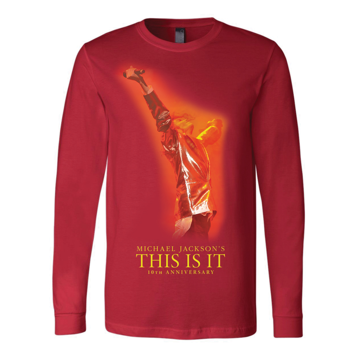 Michael Jackson's This Is It - Red Long Sleeve T-Shirt