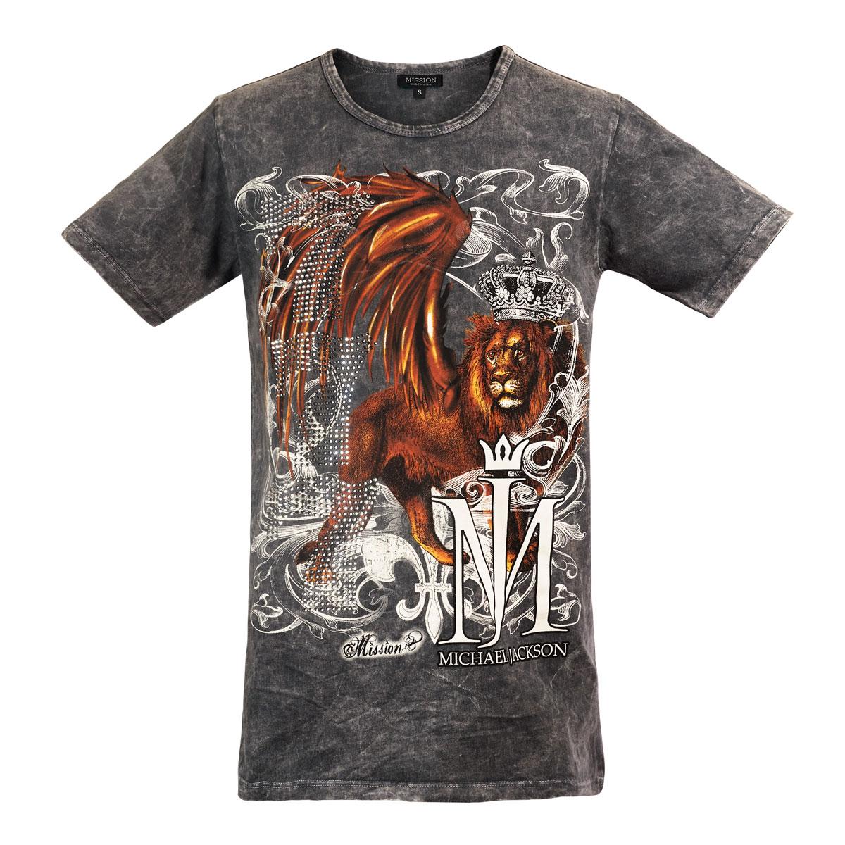Michael Jackson x Mission Crystal Lion T-Shirt - Black