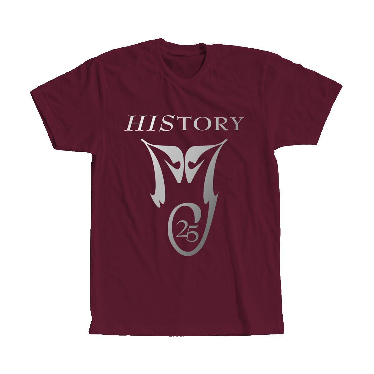 HIStory 25 Maroon Tee