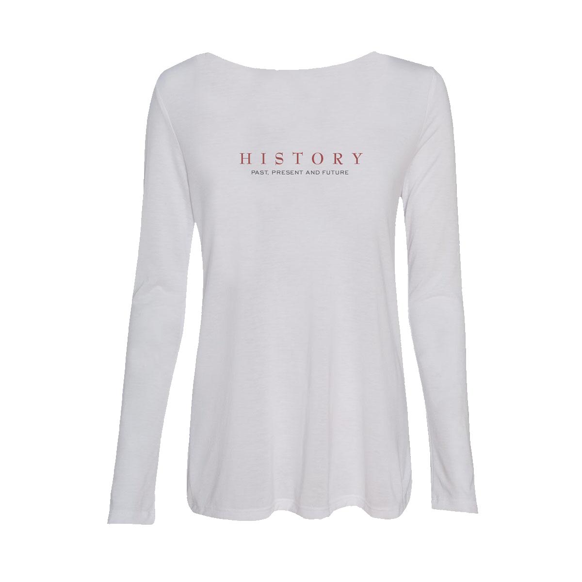 HIStory 25 Women's White L/S Tee