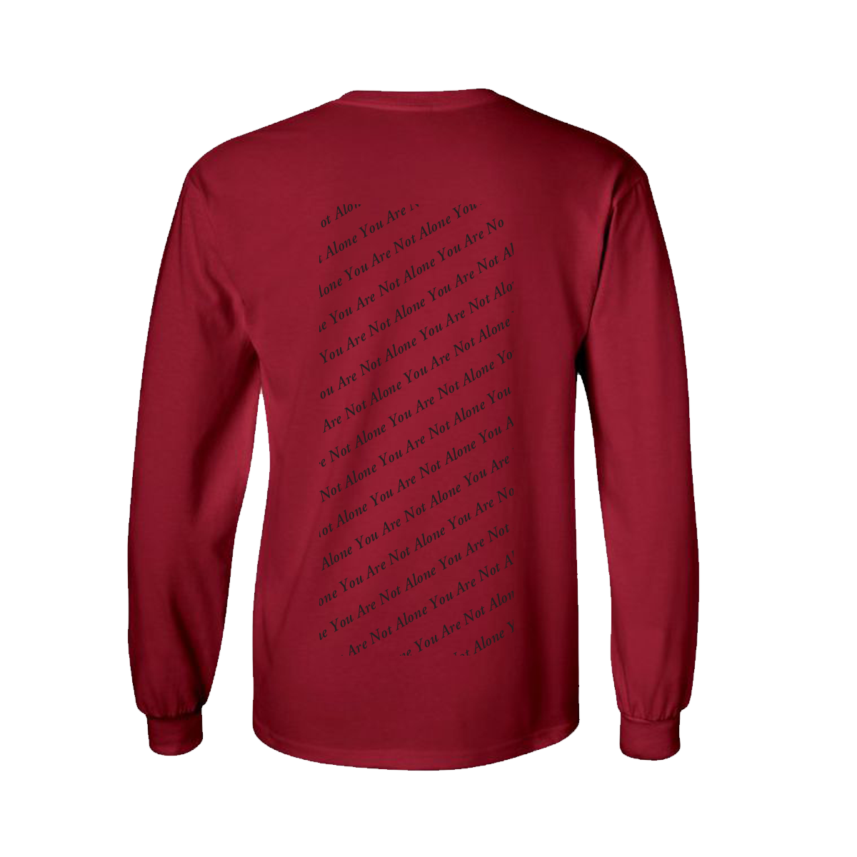 You Are Not Alone Red L/S Tee