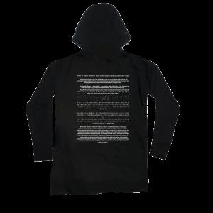 Cut & Sew Long-Sleeve Black Tee Hoodie