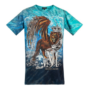 Michael Jackson x Mission Crystal Lion T-Shirt - Blue