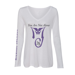 You Are Not Alone Women's White L/S Tee