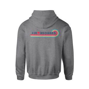 #IMOMSOHARD Vintage Logo Zip Hoodie