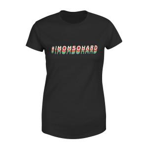 #IMOMSOHARD Rainbow Fade Maternity T-Shirt