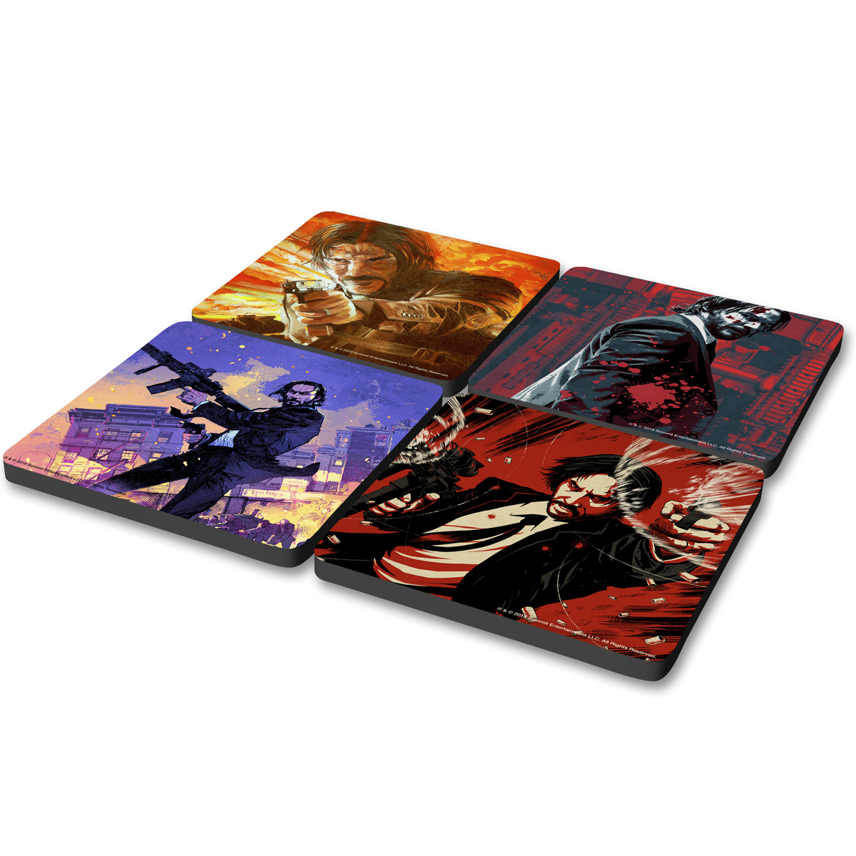 John Wick Key Art Coasters (Set of 4)