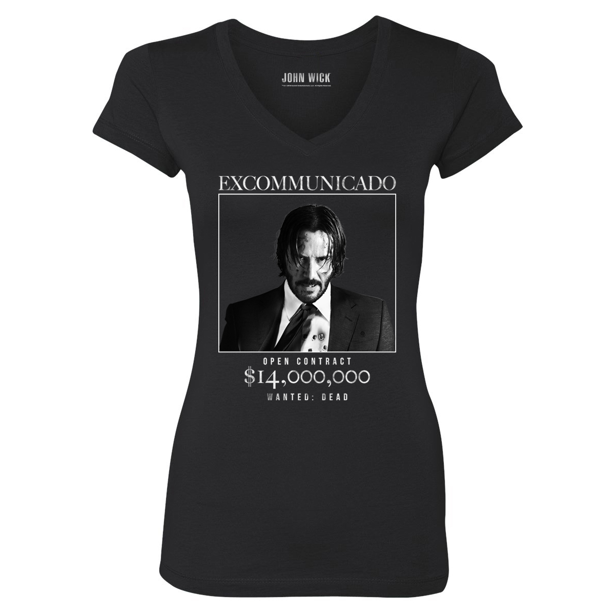 John Wick Excommunicado Women's V-Neck T-Shirt