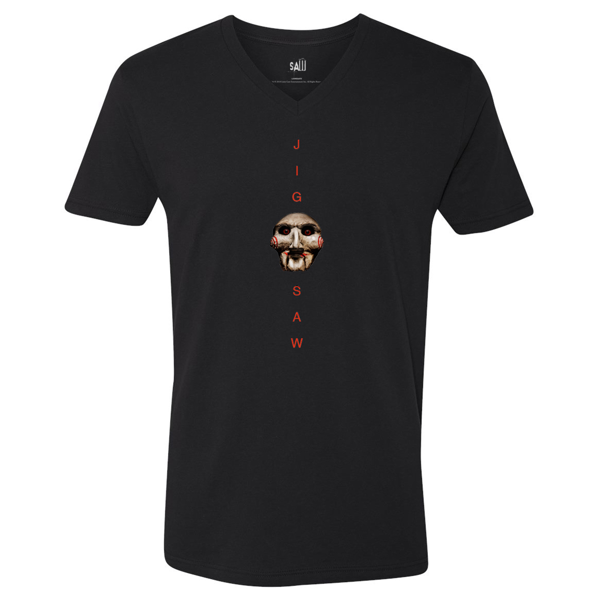 Saw Jigsaw V-Neck T-Shirt