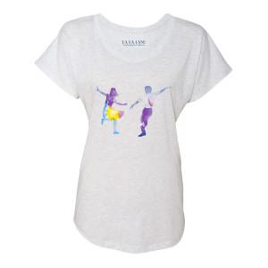 La La Land Dance Silhouette Women's Dolman T-Shirt