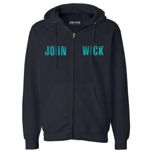 John Wick Logo Zip Up Hoodie