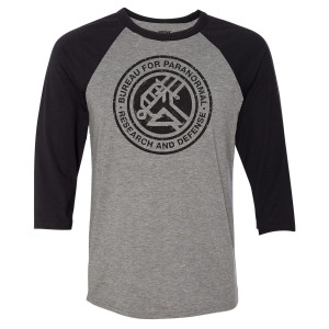 Hellboy Bureau for Paranormal Raglan T-Shirt