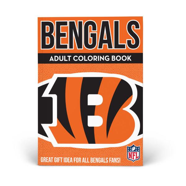 Cincinnati Bengals Adult Coloring Book | Shop the In The ...