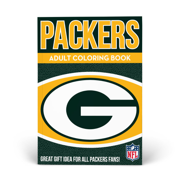 Green Bay Packers Adult Coloring Book | Shop the In The Sports Zone  for sale