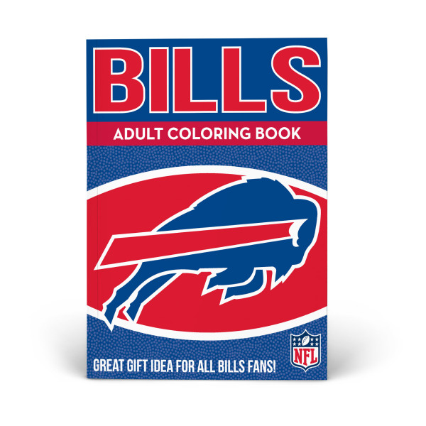Buffalo Bills Adult Coloring Book | Shop the In The Sports Zone ...