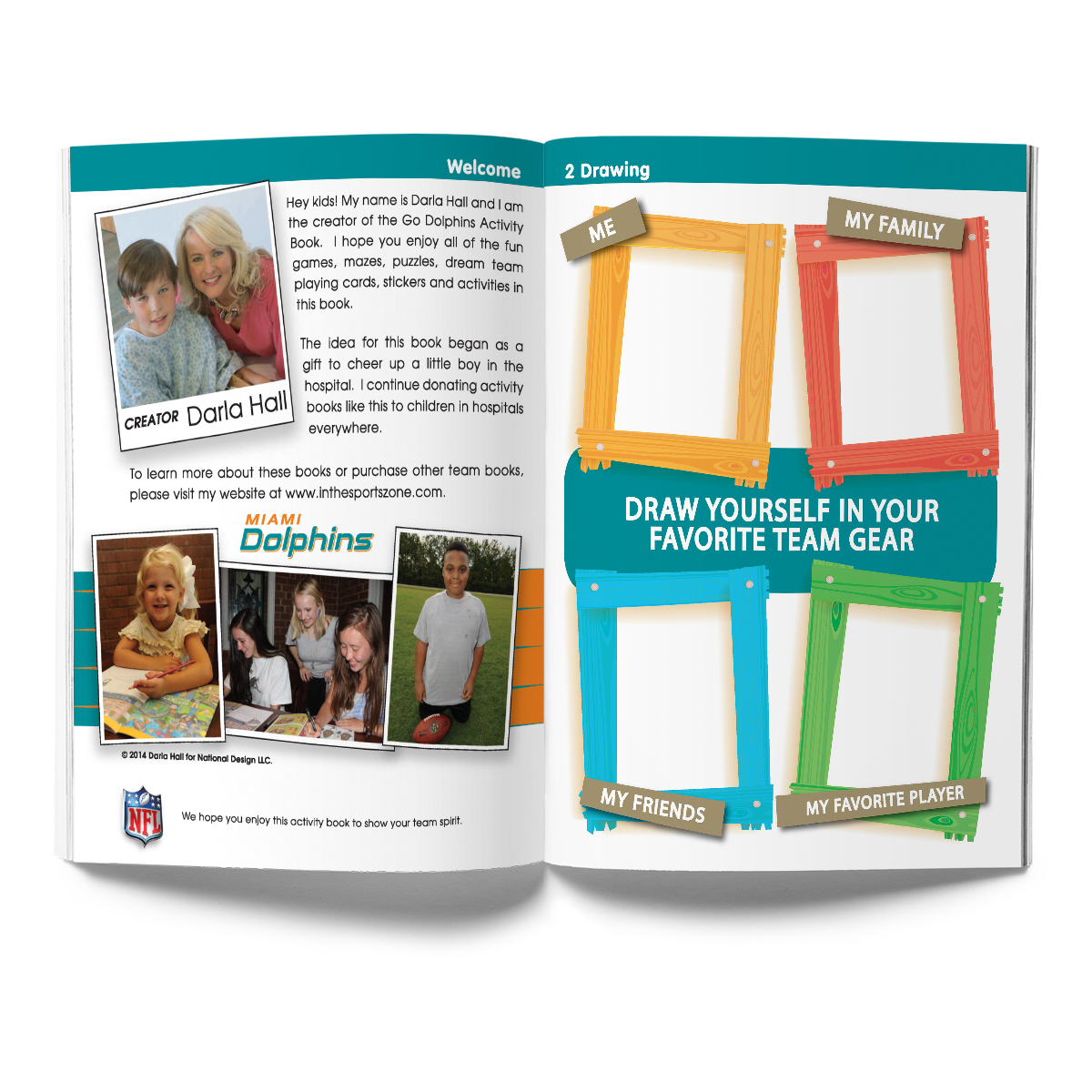 Miami Dolphins Activity Book
