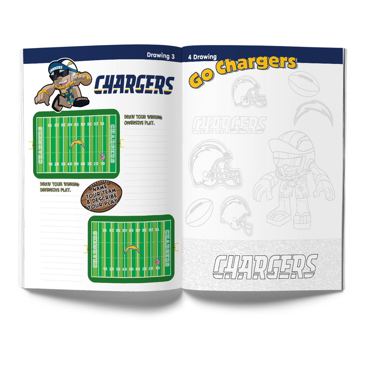 Los Angeles Chargers Activity Book