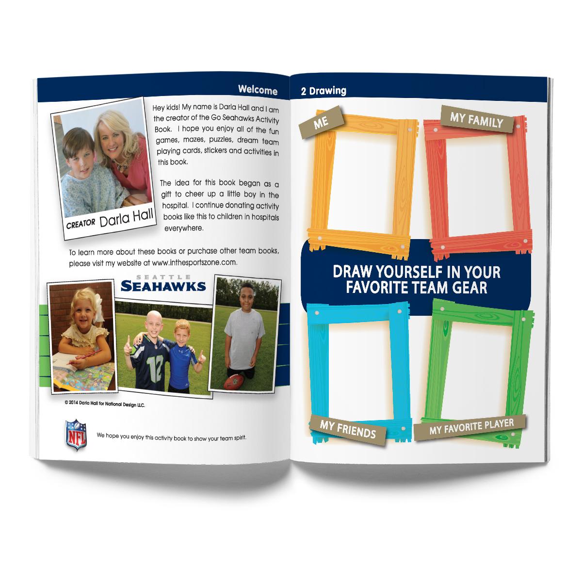 Seattle Seahawks Activity Book