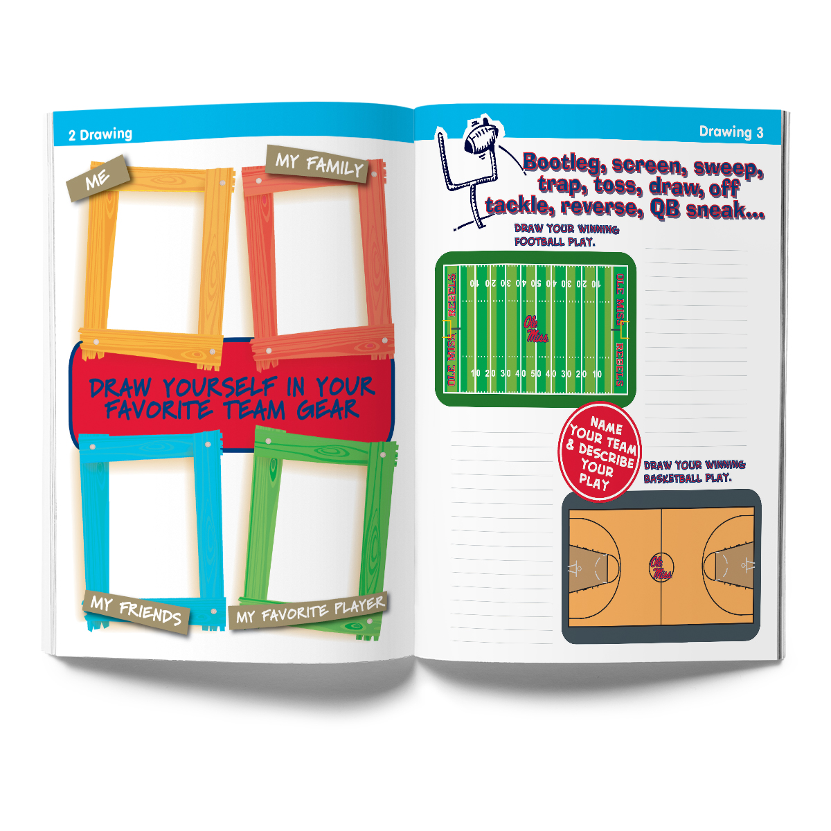 Ole Miss Rebels Activity Book