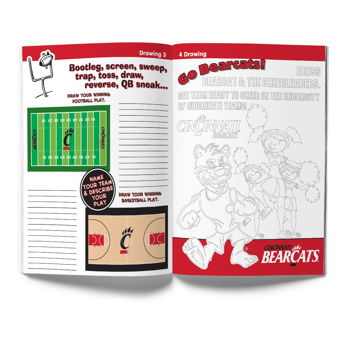 Cincinnati Bearcats Activity Book