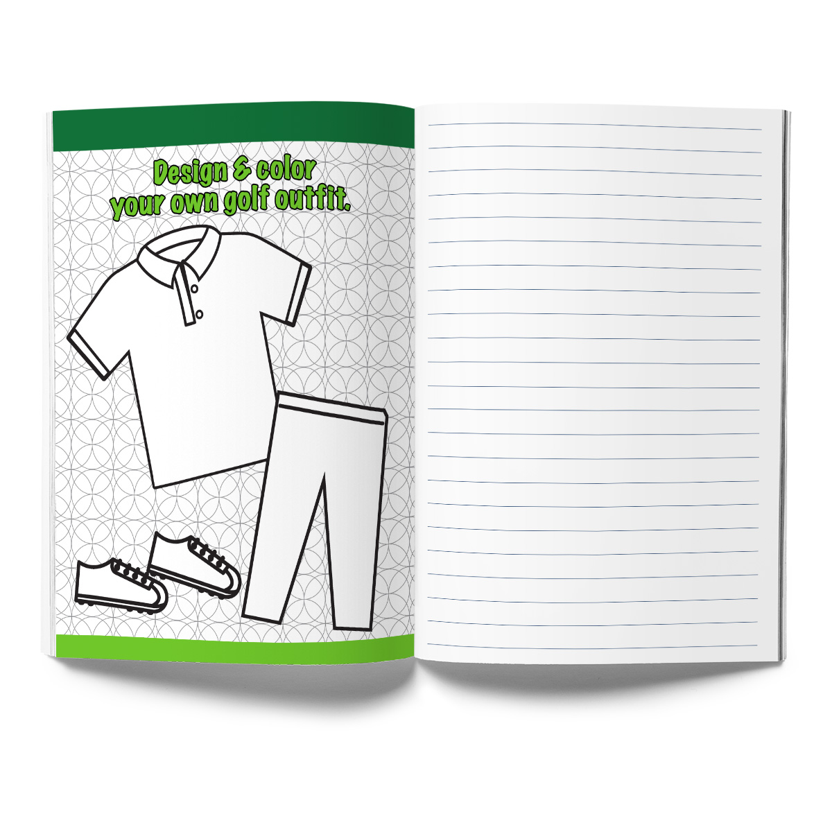 Golf Activity & Coloring Book