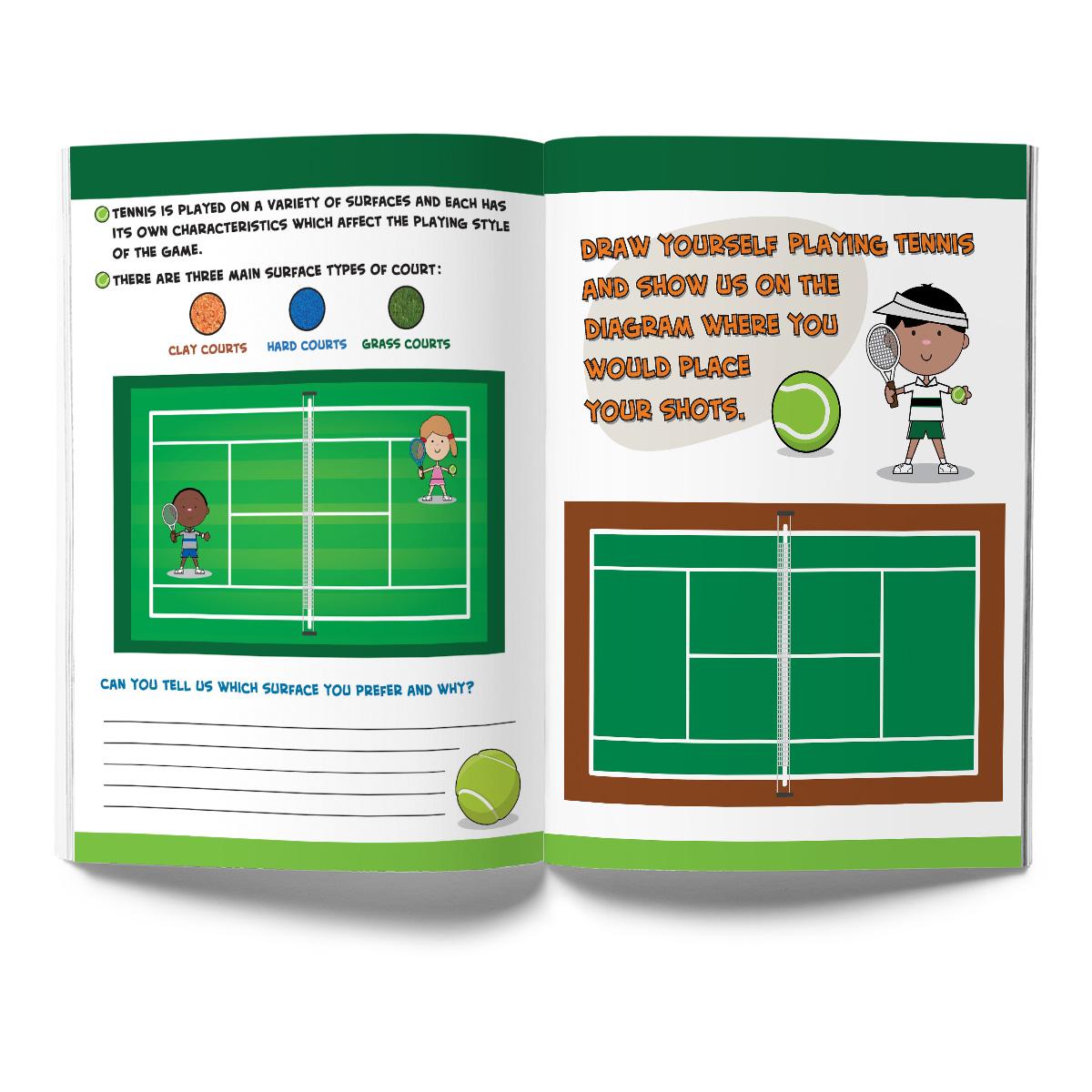 Tennis Activity & Coloring Book