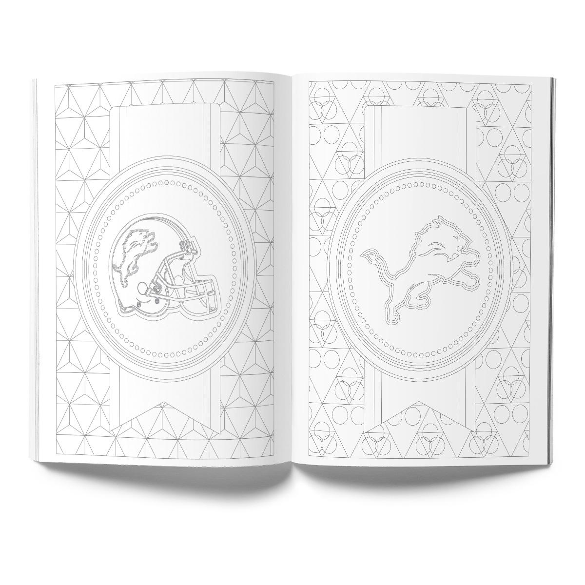 Detroit Lions Adult Coloring Book
