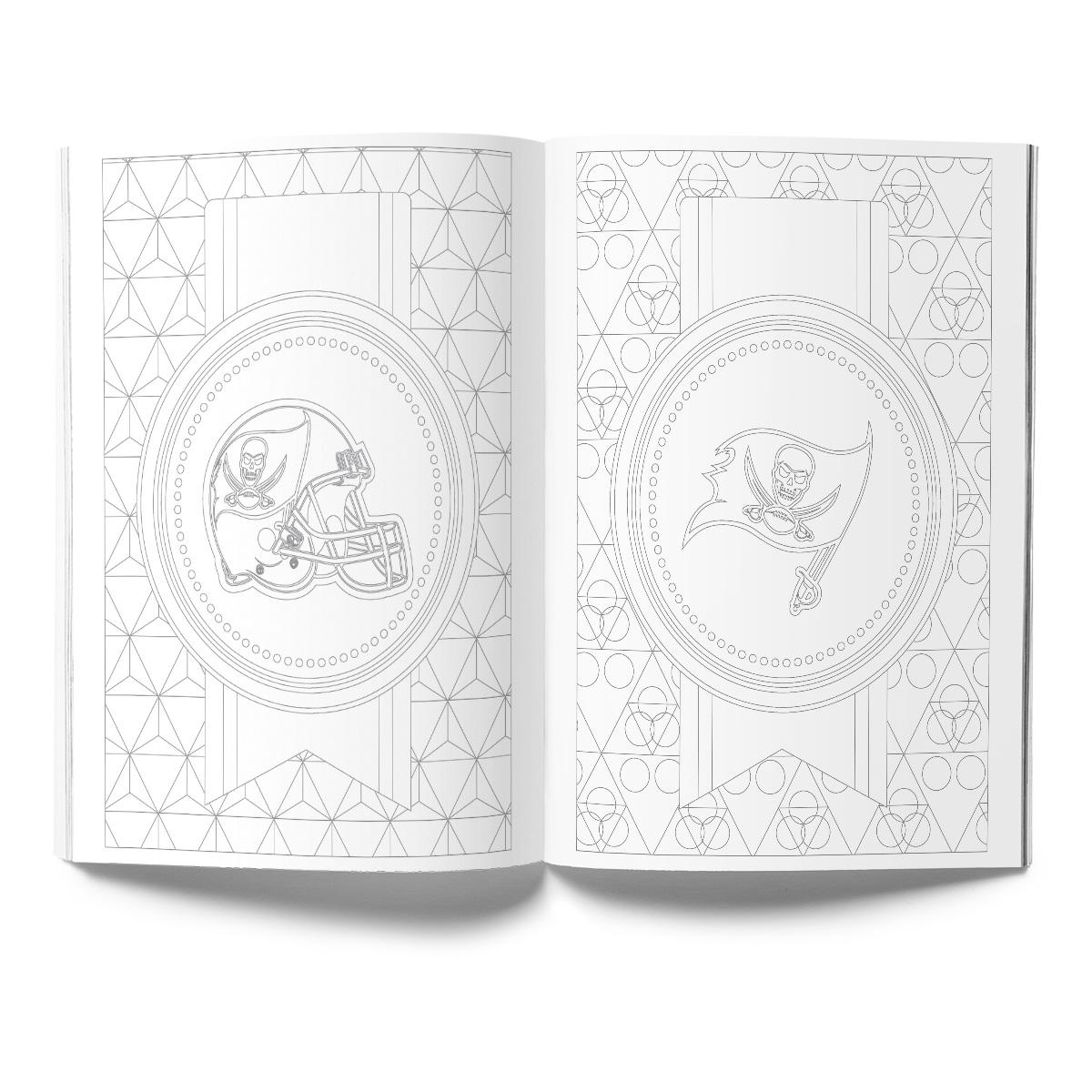 Tampa Bay Buccaneers Adult Coloring Book